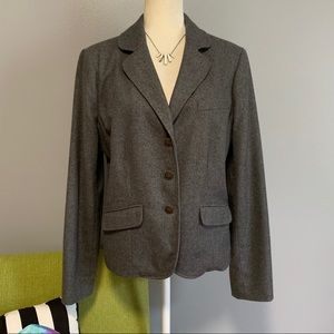 Tommy Hilfiger Grey Wool Blend Blazer Jacket